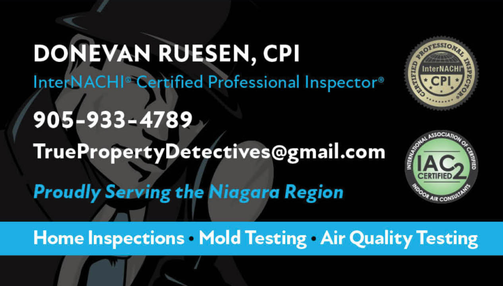 True Property Detectives logo and business card