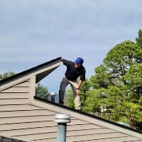 ksm inspections owner kevin meyers inspecting roof